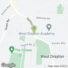 Map of St Martins Veterinary Clinic in West Drayton, middlesex