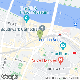 Map of Globe Tavern in London, london