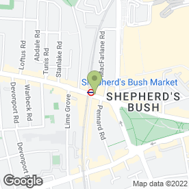 Map of Greggs in Shepherds Bush, London, london