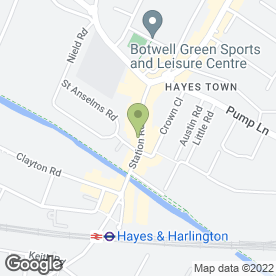 Map of Hayes Staff Recruitment in Hayes, middlesex