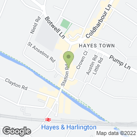 Map of Halifax in Hayes, middlesex
