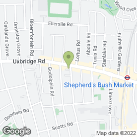 Map of Damas Gate Supermarket in London, london