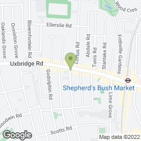 Map of Forrest the Baker in Shepherds Bush, London, london