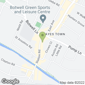 Map of Greggs in Hayes, middlesex