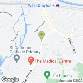 Map of Eve's Beauty & Holistic Salon in West Drayton, middlesex