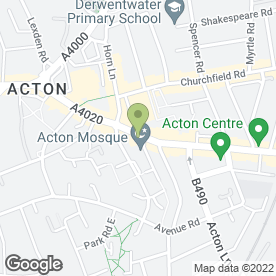 Map of McDonald's Restaurants Acton in Acton, London, london