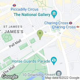 Map of Mall Galleries in London, london