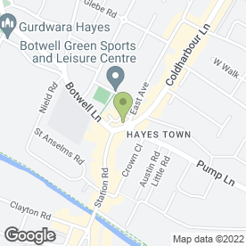 Map of KFC in Hayes, middlesex