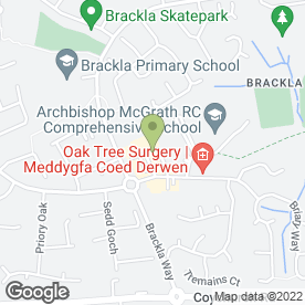 Map of Greggs in Brackla, Bridgend, mid glamorgan