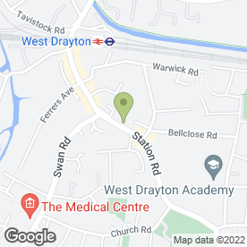 Map of LHR Express Cars in West Drayton, middlesex