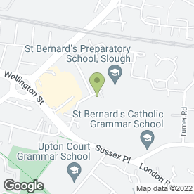 Map of ST. BERNARDS PREPARATORY SCHOOL in Slough, berkshire