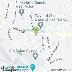 Map of Domino's Pizza in Acton, London, london