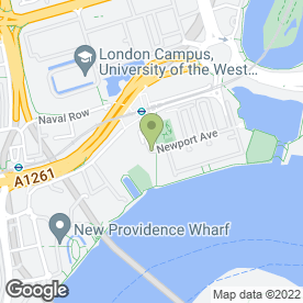 Map of My Nursery in Virgina Quays, London, london
