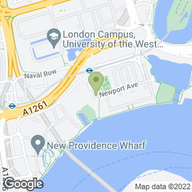 Map of My Nursery in Docklands, London, london