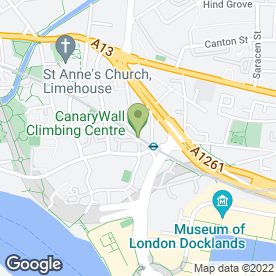 Map of Limehouse Arches Day Nursery in London, london