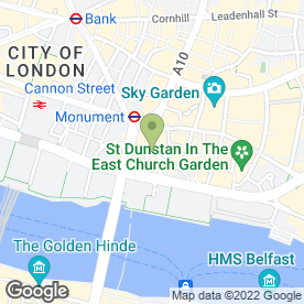 Map of The Monument in London, london