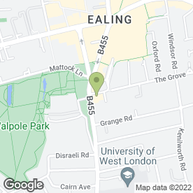 Map of Finnegan's Wake in Ealing, London, london