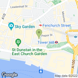 Map of Apex City of London Hotel in London, london
