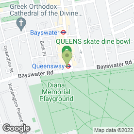 Map of Queens Ice Skating & Bowling Centre in London, london