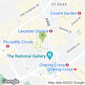 Map of Odeon Cinema in London, london
