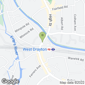 Map of Designer Kithcen & Bathrooms in Yiewsley, WEST DRAYTON, middlesex