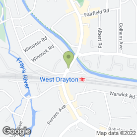 Map of GKS BATHROOMS & KITCHENS in Yiewsley, West Drayton, middlesex