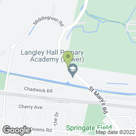 Map of Langley Manor School in Langley, berkshire