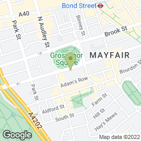 Map of Millennium Hotel London Mayfair in London, london