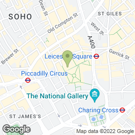 Map of Empire Cinemas in London, london