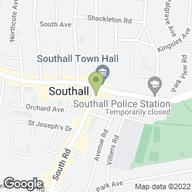 Map of Middlesex Law Chambers in Southall, middlesex