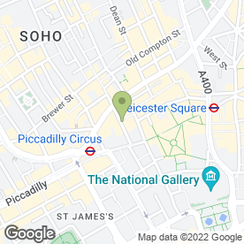 Map of STUDENT TRAVEL CENTRE in London, london