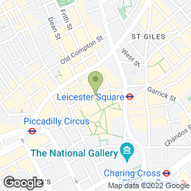 Map of Prince Charles Cinema in London, london