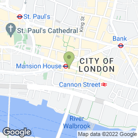Map of Itsu in London, london