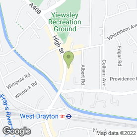 Map of Yiewsley P.O in Yiewsley, West Drayton, middlesex