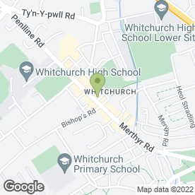 Map of CARDIFF BED CENTRE in Whitchurch, Cardiff, south glamorgan