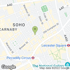 Map of Madame JoJo's in London, london