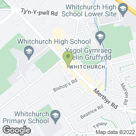Map of James Morgan Solicitors in Whitchurch, Cardiff, south glamorgan