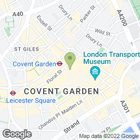Map of Maxwell's Covent Garden in London, london