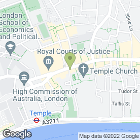 Map of Middle Temple Lane Chambers in London, london