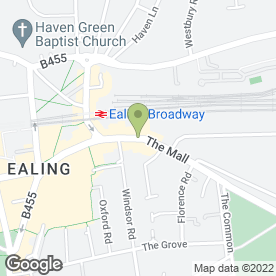 Map of Daniels Accountancy Ltd in Ealing, London, london