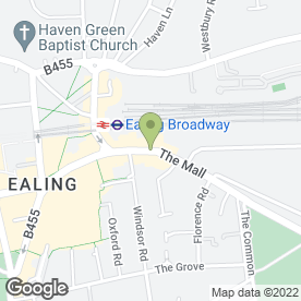 Map of Rossmore Solicitors in Ealing, London, london
