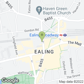Map of Pure Barberism in Ealing, London, london