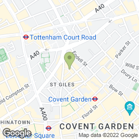 Map of Calm And Clear Complementary Therapies in Covent Garden, London, london