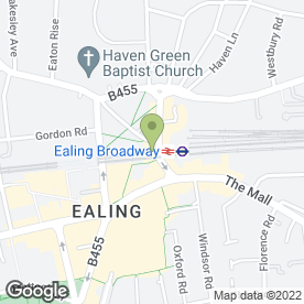 Map of Kinleigh Folkard & Hayward Letting Agents in Ealing, london