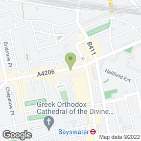 Map of Tinseltown in LONDON, london