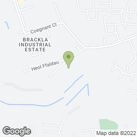 Map of Vibrax Plant in Brackla Industrial Estate, Bridgend, mid glamorgan