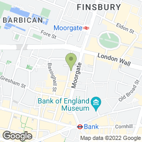Map of Broadgate General Practice in London, london