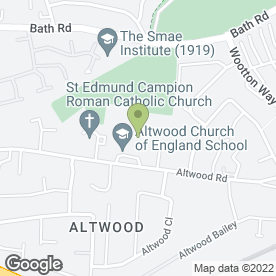 Map of Altwood C of E Comprehensive School in Maidenhead, berkshire