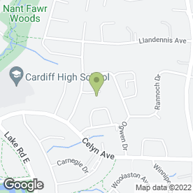 Map of Hayden Plasterers in Cardiff, south glamorgan