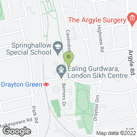 Map of Springhallow School in Ealing, London, london